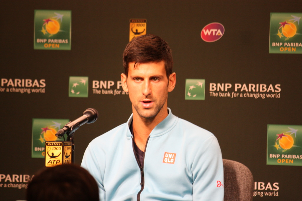 Press conference at the BNP Paribas Open in Indian Wells, California
